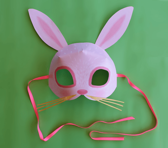 Bunny mask, rabbit animal mask: 10 Printable Animals