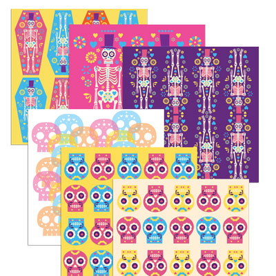 Inspired by the wonderful imagery and colors of Mexico's Dia de los Muertos