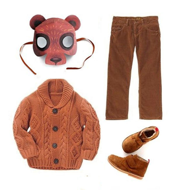 Bear mask and costume idea to dress up for world book day