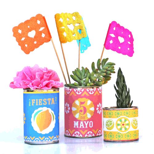 Cinco de Mayo tin can label template!