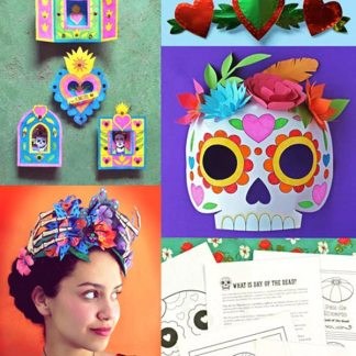 Dia de los muertos mask craft easy diy calavera mask template day of the dead craft activity printable pack pronofoot35fo Gallery
