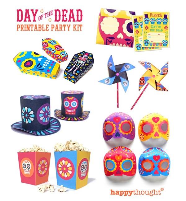 El Dia de los Muertos DIY printable craft ideas