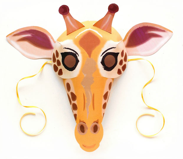 Giraffe mask and costume idea to dress up for world book day