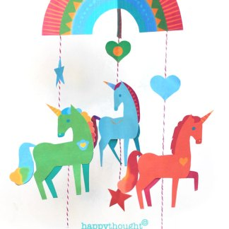 Easy and fun craft activity for the Holidays and Christmas!Make your very own DIY unicorn mobile for your baby crib