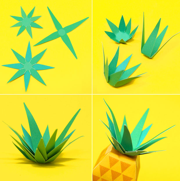 How to make paper leaves for the top of a paper pineapple