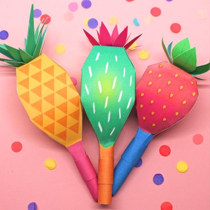 How to make your very own maracas with paper, rice and glue
