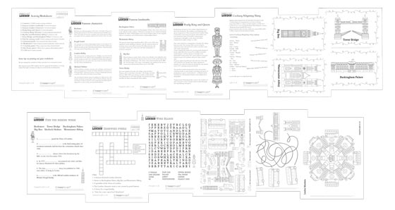 London worksheets teacher resource: Learn about some famous London landmarks and people!