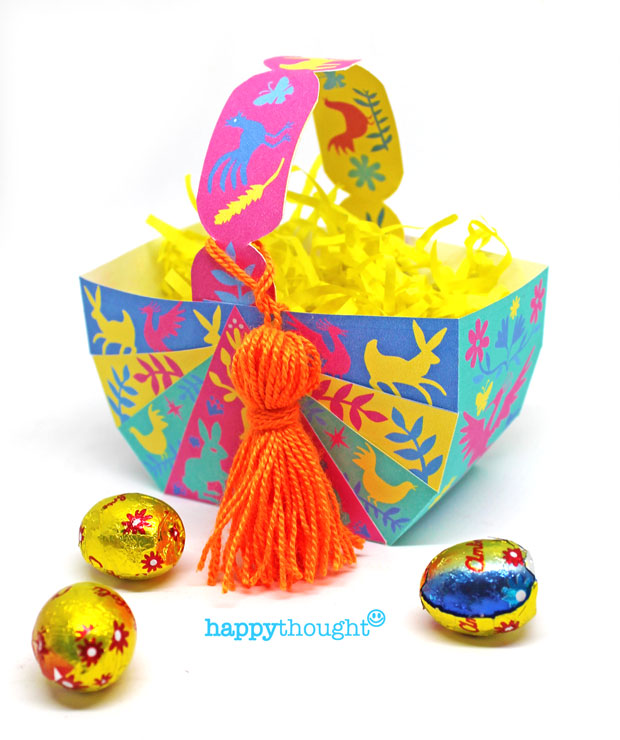 Diy Easter Baskets Create Egg Baskets With Diy Instruction And Template
