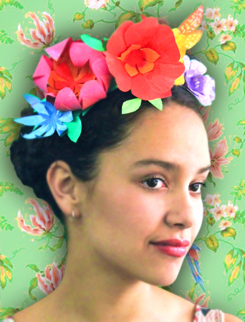 Make and wear this stunning paper flower crown