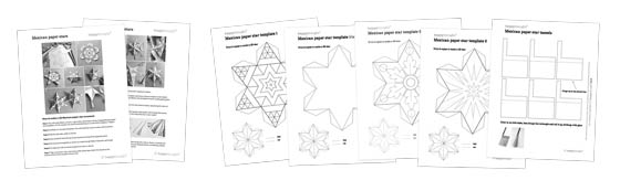 How to make Mexican paper star decorations - Printable kids activity + craft templates!