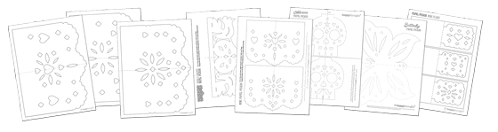 image regarding Papel Picado Templates Printable titled How in the direction of produce Papel Picado: Working day of the Useless and Dia de los