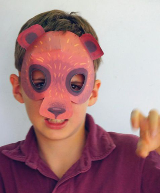 Be a bear with our easy homemade to make mask templates and costume ideas