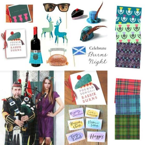 Papercraft pdf templates - Burns Night Supper ideas. Jan 25th 2016.