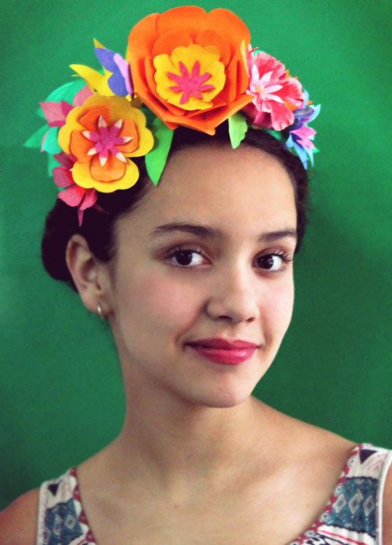 Wear this stunning flower headpiece for a Cinco de Mayo celebration!