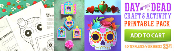 Day of the Dead activity craft sheets: 5 activities + 40 PDF templates to download!