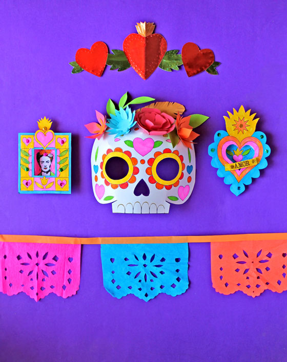 Day of the dead worksheets 10 dia de los muertos activities for Day of the dead crafts for preschoolers