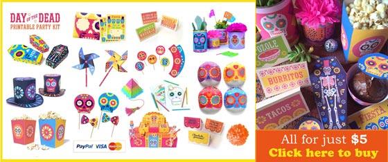 day of the dead or dia de los muertos fiesta ideas printables crafts and