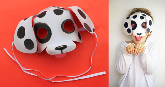Printable paper mask dog: Templates and patterns!