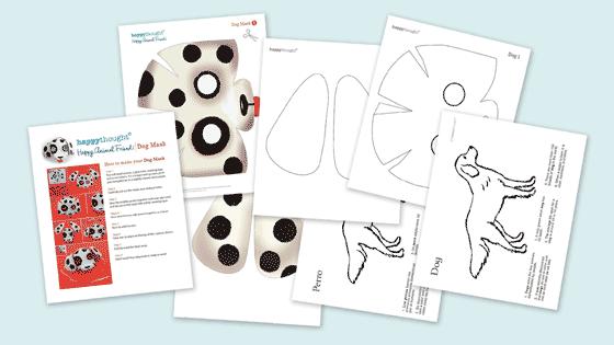 Dog worksheets: Printable masks templates, PDFs + patterns!