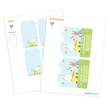 Easter gift tag template printable easter kit to make at home gift tag template to print our for an easter bunny party negle Image collections