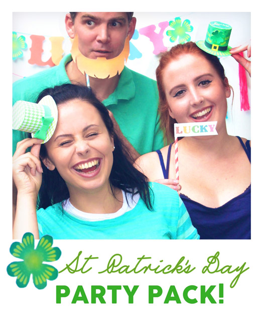Easy instant St Patricks Day party props and decorations!