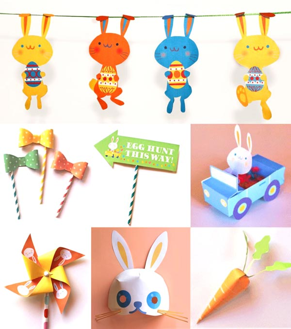 Happy Easter printable template ideas and fun craft activities for home gifts!