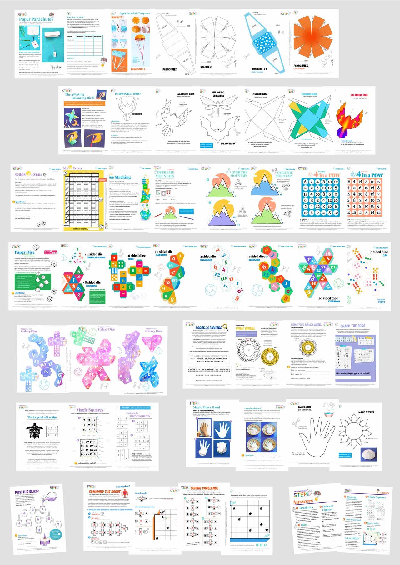 Printable Stem Worksheets