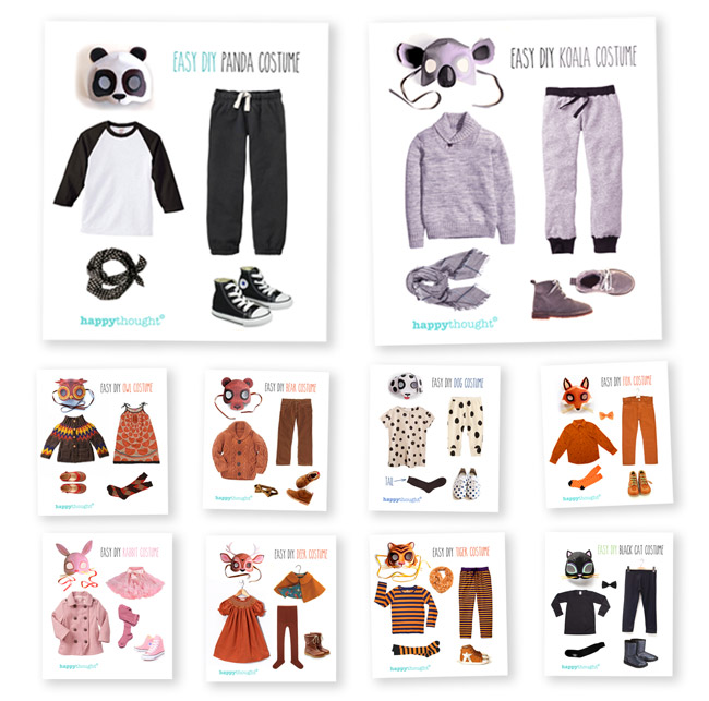 Homemade Animal costume template ideas!