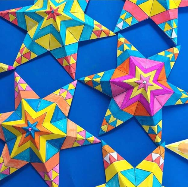 How to make paper stars for Cinco de Mayo