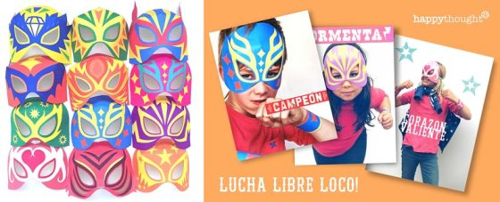 Printable PDF templates lucha libre mask: 12 templates and designs!
