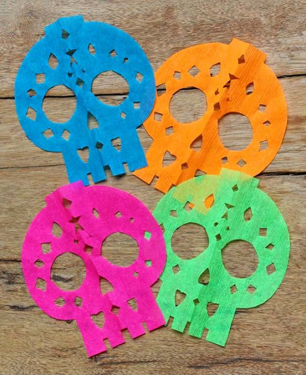 DIY papel picado calavera templates: Make your own DIY decorations for Day of the Dead