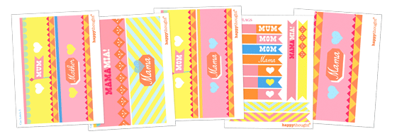Mother's Day printable labels: Mama labels template!