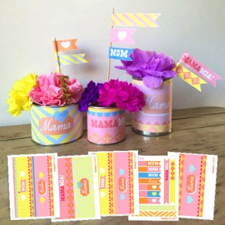 DIY Mother's Day printable labels for a easy DIY decoration idea!