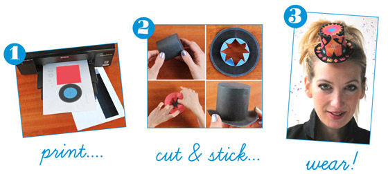 8 mini paper party top hats printable templates!