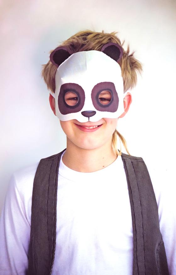 Print paper panda mask - Fun and simple to make DIY printable animal masks!