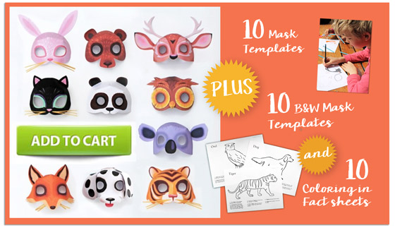 Paper animal mask ideas printables!