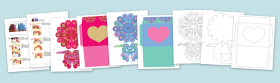 Printables, cutouts and patterns - pretty paper peacocks coloring pages!