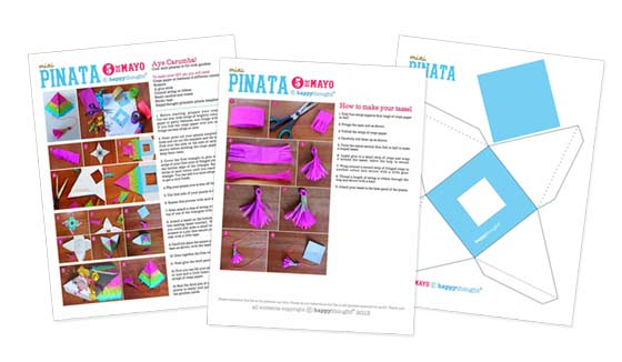 Pinata templates for decorations and craft activtities!