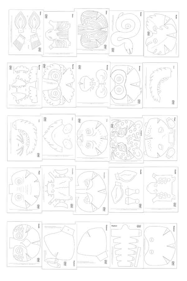 Printable color in mask templates - Make your own DIY maks