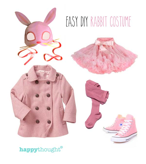 Easy and fun rabbit costume mask and outfit ideas