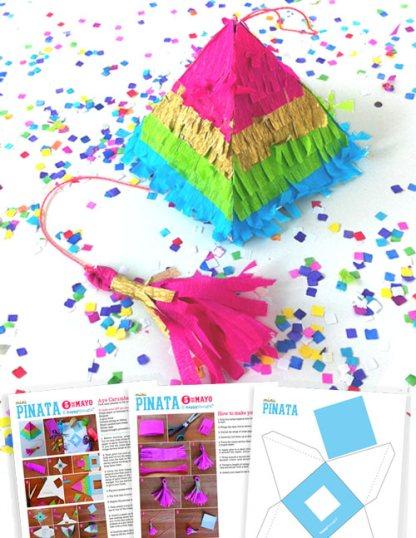 Mini piñata templates: How to make a mini pinata with templates and tutorials!