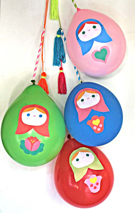 Cute balloon stickers for your party decorations!