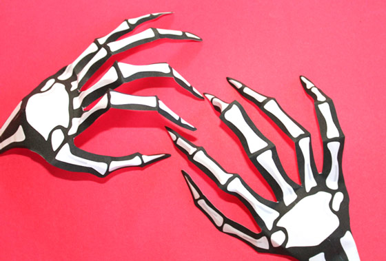 Halloween costumes print a paper skeleton hand instantly for Skeleton template to cut out