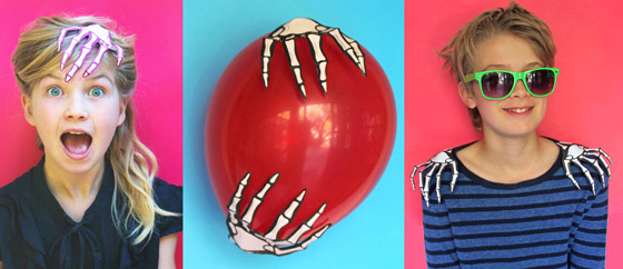 Halloween costume accessories: Paper skeleton hand template ideas!