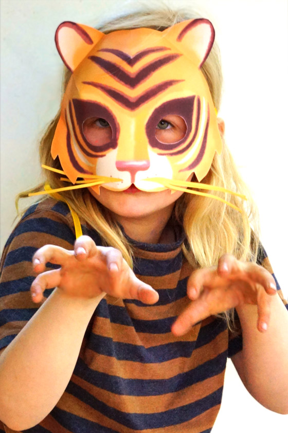 Printable tiger mask: Tiger mask printable templates, patterns and cutouts!