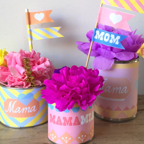 Mothers day crafts: Free printable label templates!