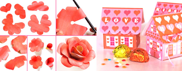 Paper rose and gift box tutorials, papercrafts and activities!
