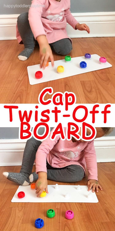 Cap TWIST OFF board fine motor activity