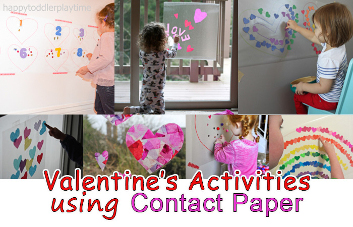 Valentines Day Activities And Crafts Using Contact Paper Happy