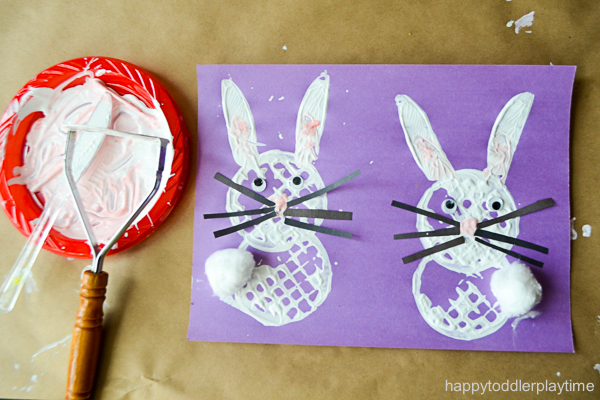 easter bunny craft for toddlers and preschoolers